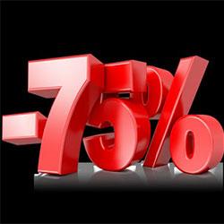 Скидки до 75%